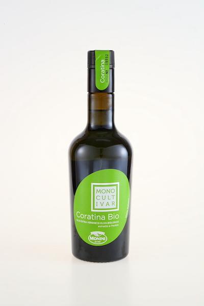 Monini Monocultivar Coratina Bio extra virgin olive oil